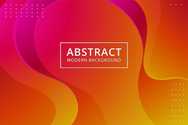 Modern abstract behang als achtergrond in levendige roze oranjegele kleur