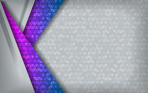 Modern abstract blauw purper technologiewit met overlappingsachtergrond.