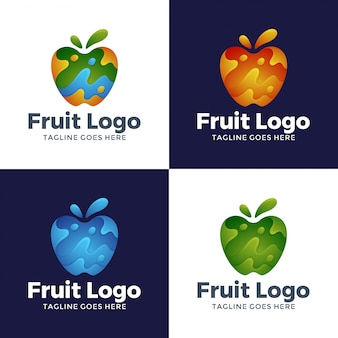 Modern abstract fruitlogo ontwerp
