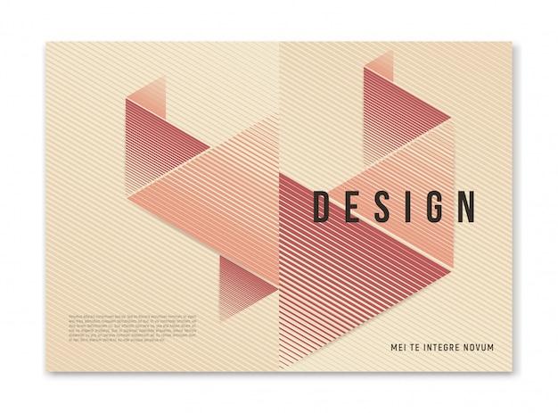 Modern abstract geometrisch a4-formaat omslagontwerp