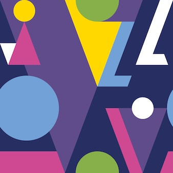 Modern abstract geometrisch naadloos patroon.
