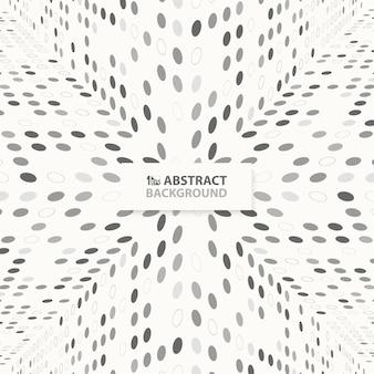 Modern abstract het patroonontwerp van techno grijs punten van perspectiefachtergrond