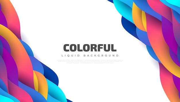 Modern abstract ontwerp als achtergrond met kleurrijke vloeibare en vloeibare vormen. vloeibaar achtergrondontwerp voor bestemmingspagina, thema, brochure, banner, omslag, boekje, print, flyer, boek, kaart of reclame