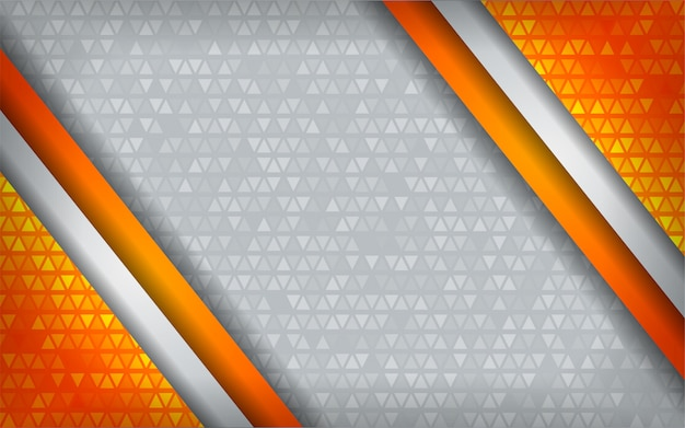 Modern abstract oranje technologiewit met overlappingsachtergrond.