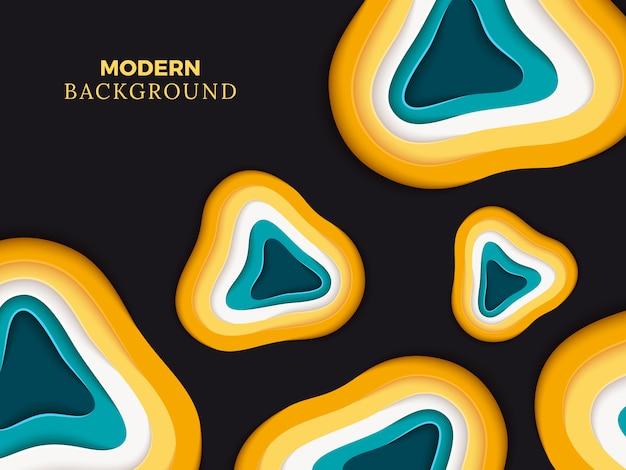 Modern abstract papier gesneden achtergrondgeluidontwerp. kleur papier origami vector