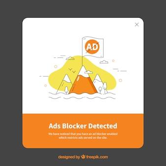 Modern advertentieblokconcept met vlak ontwerp