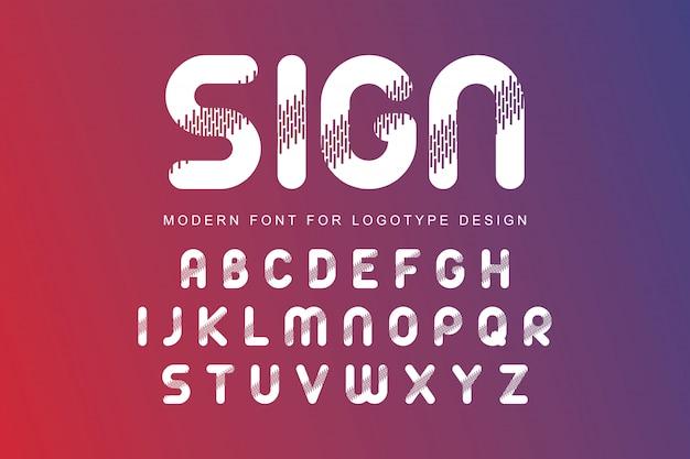 Modern alfabet lettertype
