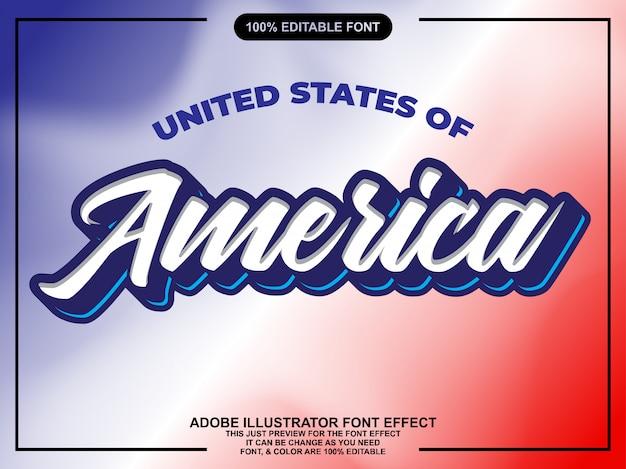 Modern amerika script bewerkbaar lettertype effect