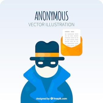Modern anoniem concept met een plat ontwerp