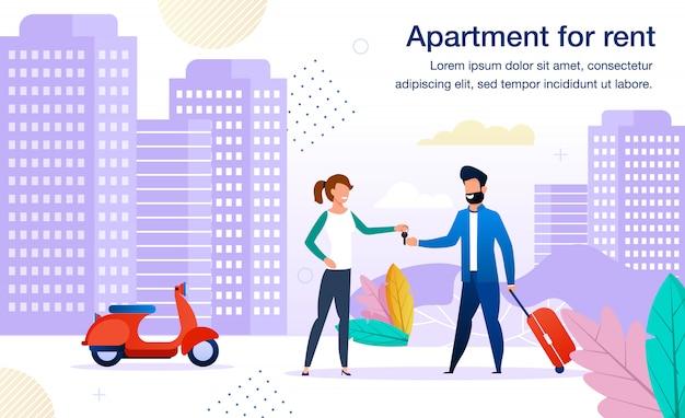 Modern appartement te huur flat banner