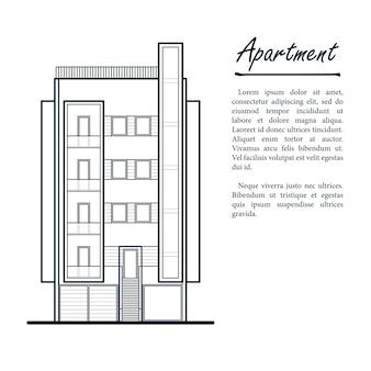 Modern appartementengebouw met balkons.