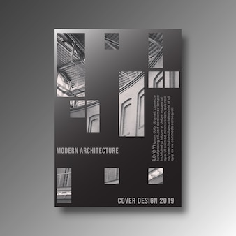 Modern architectuurontwerp als achtergrond voor banner, drukproducten, vlieger, affiche