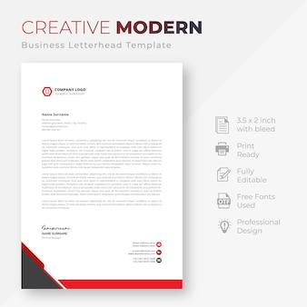 Modern bedrijf briefpapier sjabloon