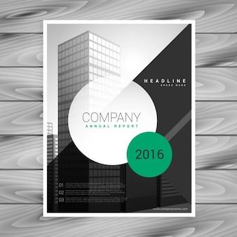 Modern bedrijf flyer brochure met geometrische vormen