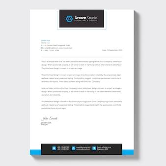 Modern bedrijfsbriefpapier, briefhoofdsjabloon