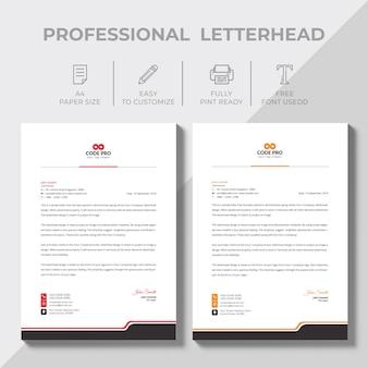 Modern bedrijfsbriefpapier in verschillende kleuren