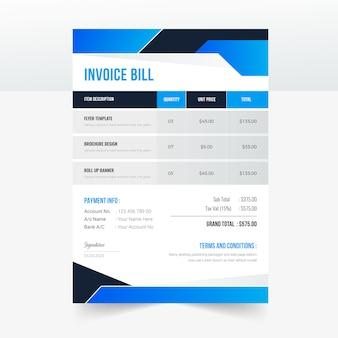 Modern bedrijfsfactuur bill template