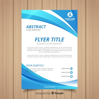 Modern bedrijfsvliegermalplaatje met abstract ontwerp