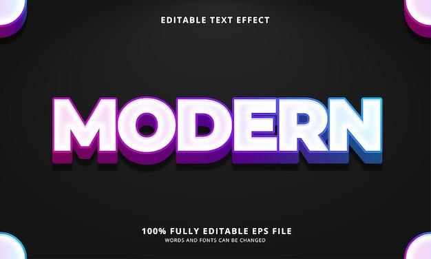 Modern bewerkbaar teksteffect