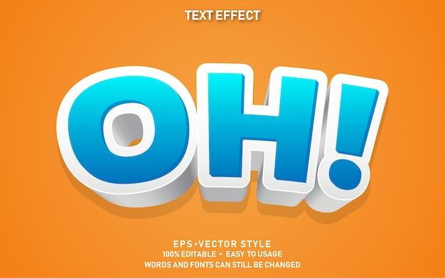 Modern bewerkbaar tekststijleffect oh
