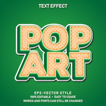 Modern bewerkbaar tekststijleffect pop-art