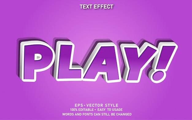 Modern bewerkbaar tekststijleffect spelen
