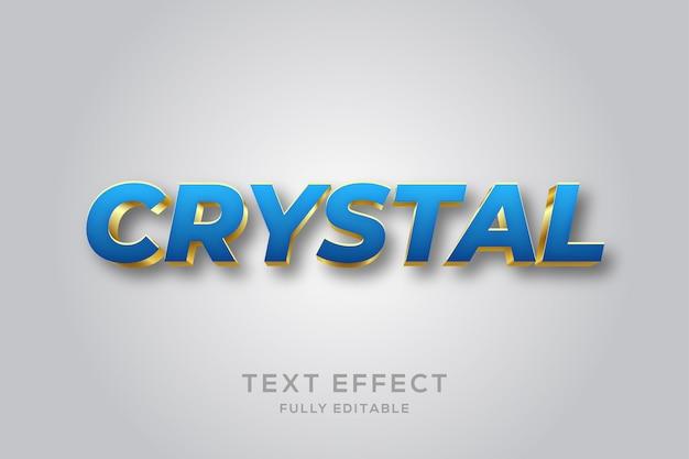 Modern blauw en goud 3d-teksteffect