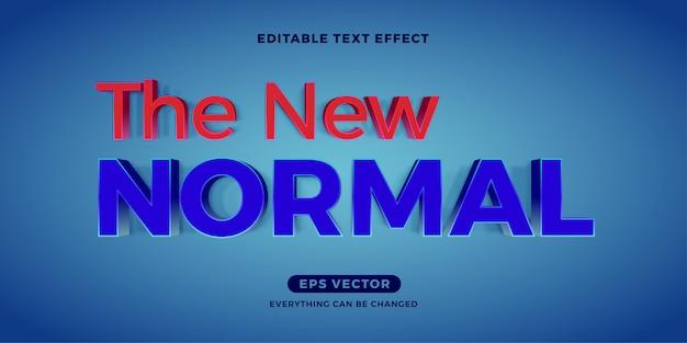 Modern blauw nieuw normaal bewerkbaar teksteffect