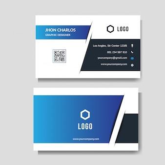 Modern blauw visitekaartje