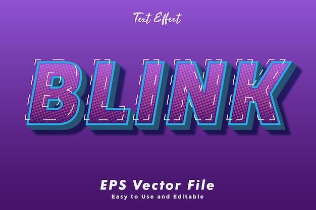 Modern blink teksteffect sjabloon typografie effect sjabloon