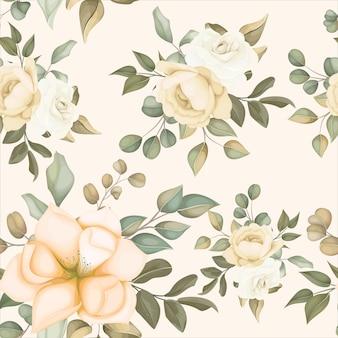 Modern bloemen naadloos patroon met zachte bloemen