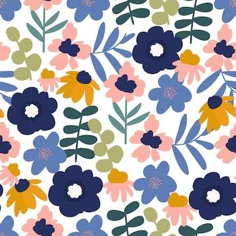 Modern bloemen naadloos patroon
