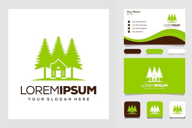 Modern boom- en huislogo-concept