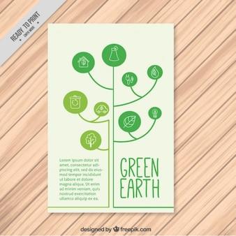 Modern boom met cirkels eco flyer