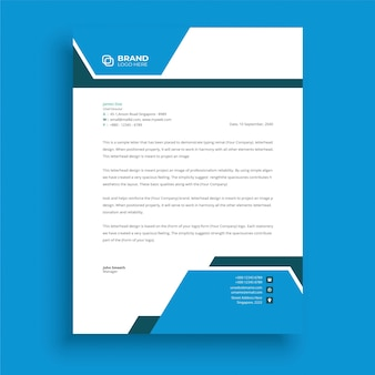 Modern briefpapier in professionele zakelijke stijl abstract creatief briefhoofdontwerp