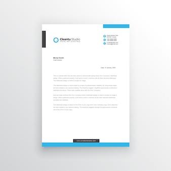 Modern briefpapier template