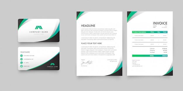 Modern briefpapierpakket
