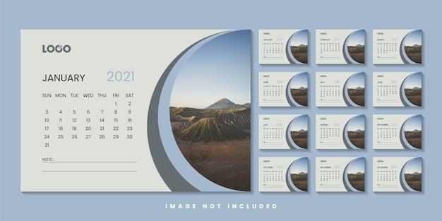 Modern bureaujaarkalenderontwerp
