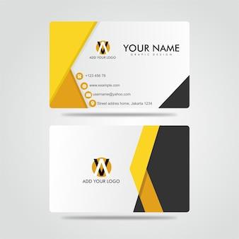 Modern bussines card donker geel