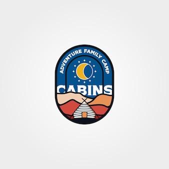Modern cabine embleem logo vector illustratie ontwerp, cottage logo ontwerp