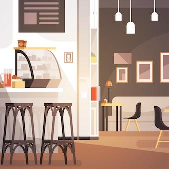 Modern cafe interieur leeg geen mensen restaurant