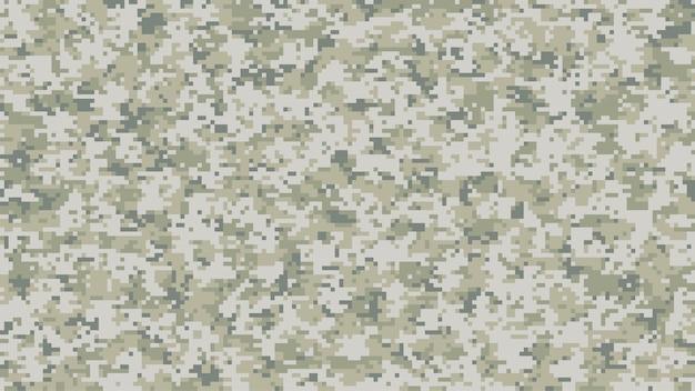 Modern camouflagepatroon op meerdere schaal in digitale pixels