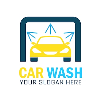 Modern car wash logo ontwerp