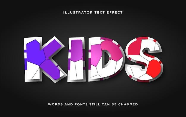 Modern cartoon bewerkbaar teksteffect