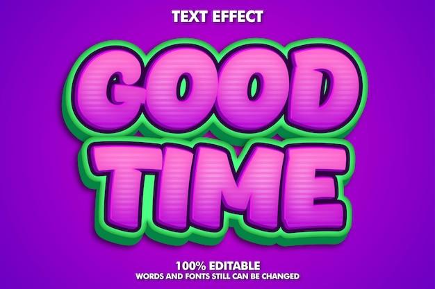 Modern cartoon lettertype-effect voor sticker