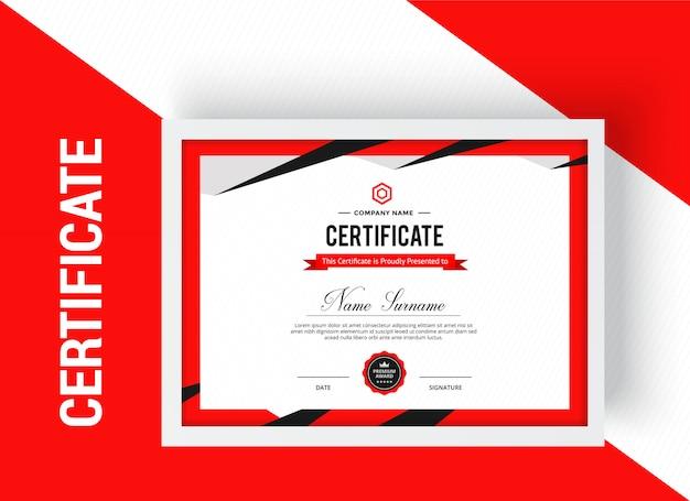 Modern certificaat prestatie sjabloon premium