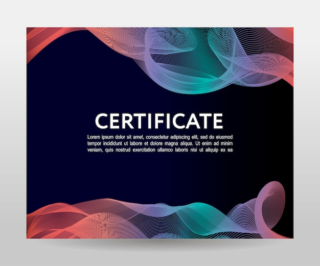 Modern certificaatsjabloon