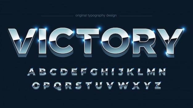 Modern chrome artistic font