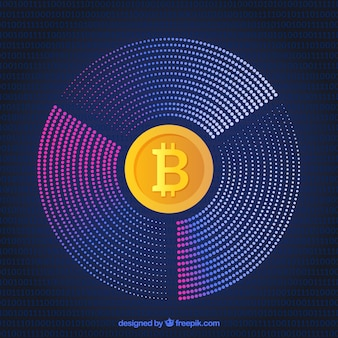 Modern cirkelvormig bitcoin-ontwerp
