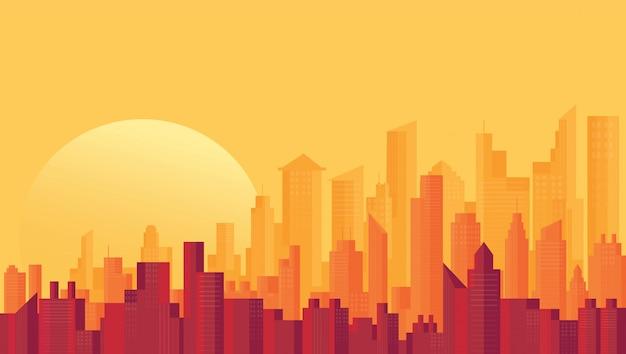 Modern city skyline achtergronden